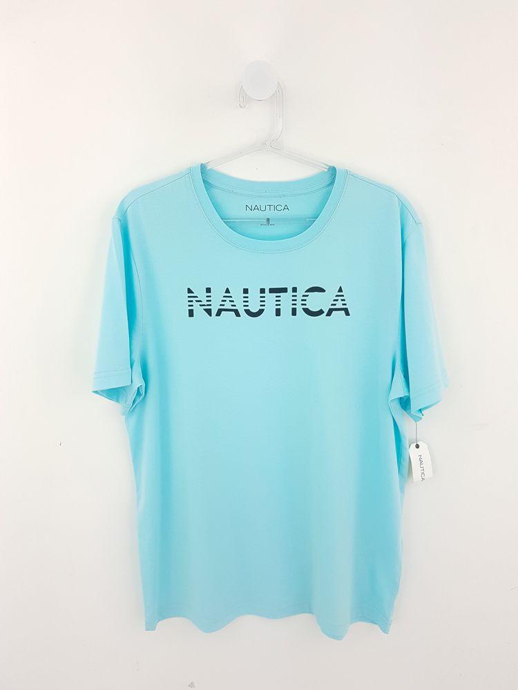 Camiseta azul claro letras pretas Nautica tam M