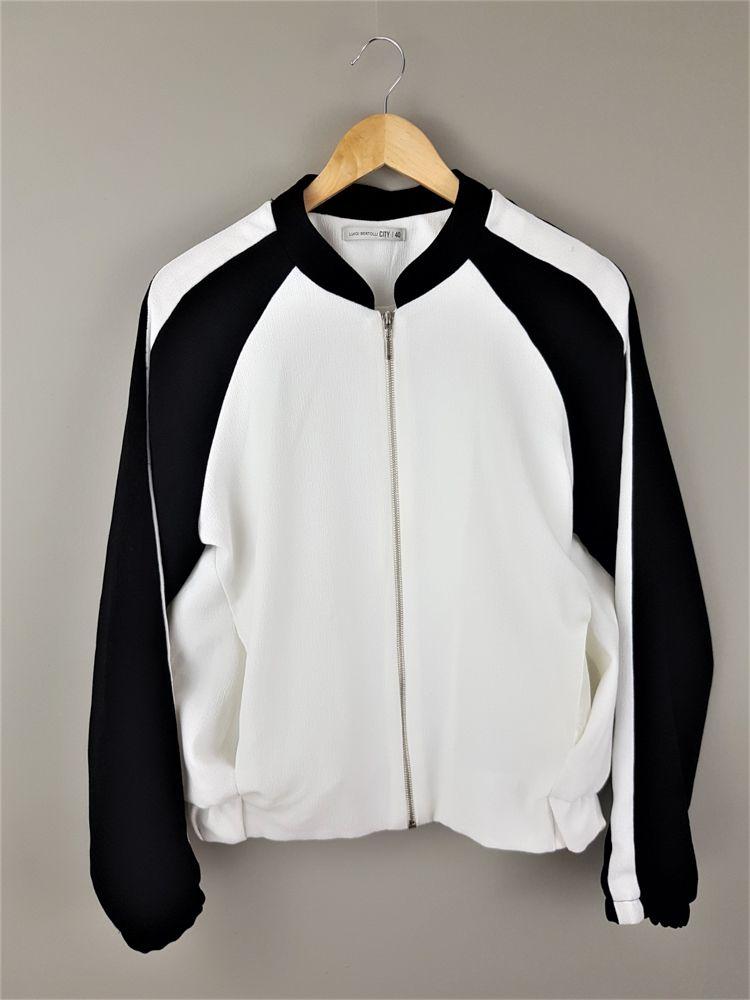 Casaco bicolor branco/preto Luigi Bertolli tam 40