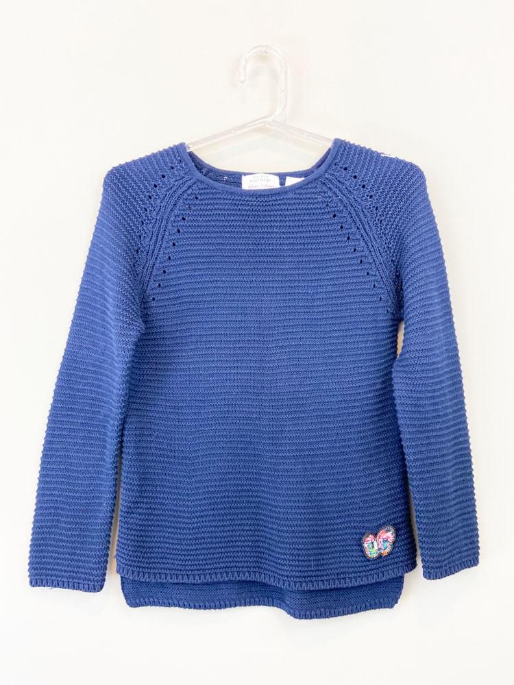 Casaco tricot marinho Zara Girls Knitwear tam M