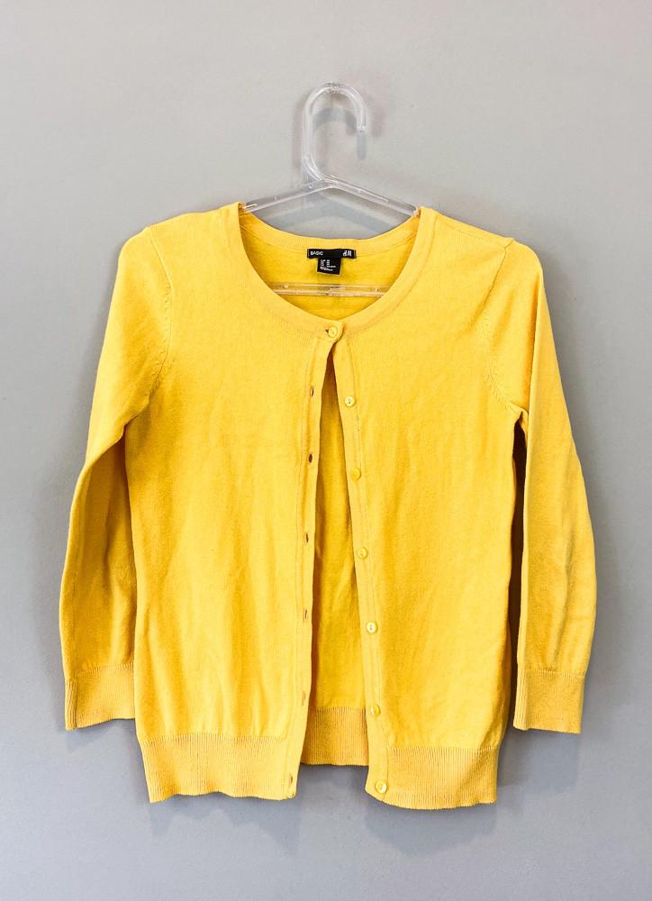 Casaquinho tricot amarelo Basic H&M tam PP
