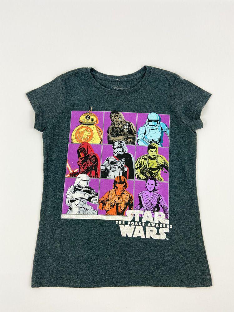 Camiseta chumbo estampa Star Wars Disney Store tam 7/8