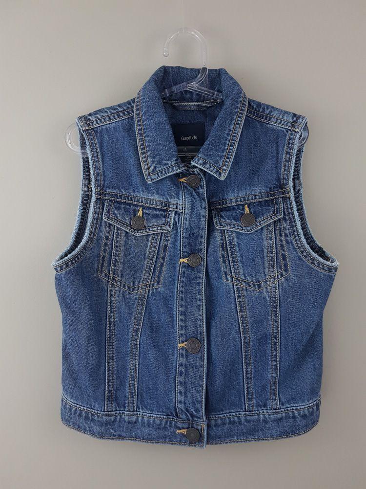 Colete jeans botões ouro velho Gap tam 10