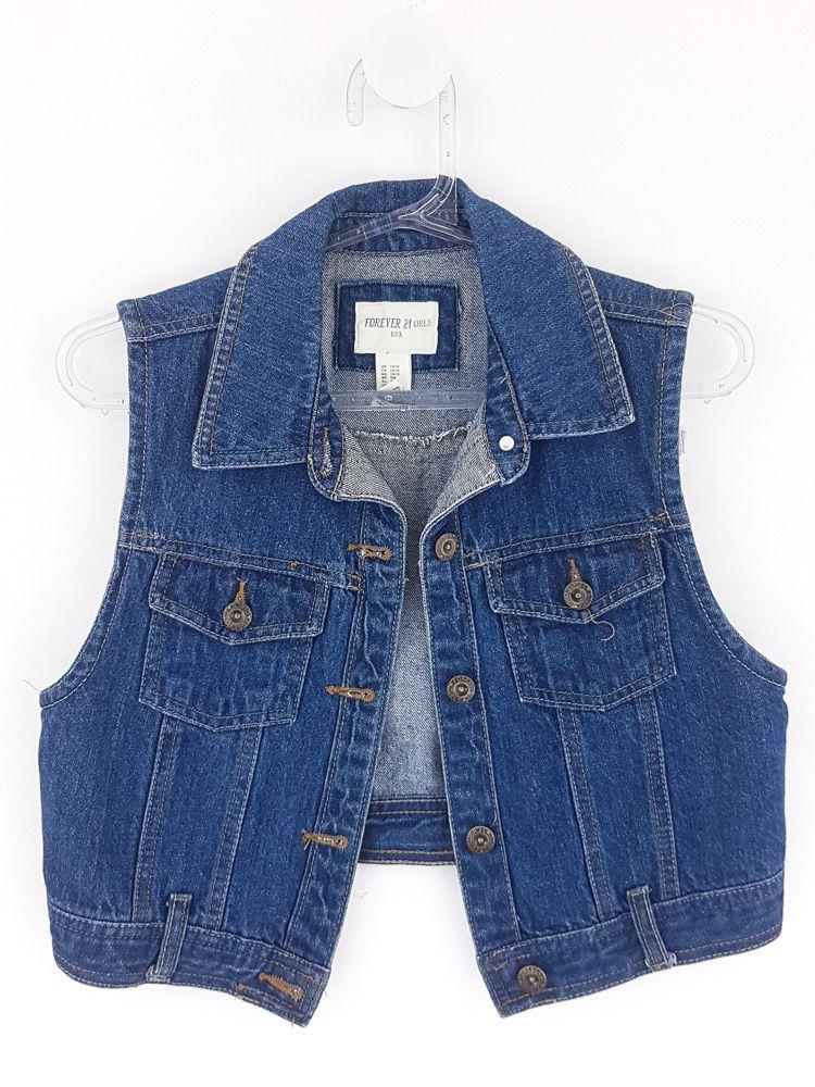 Colete jeans Forever 21 tam 13/14