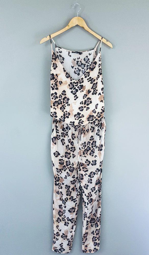 Conjunto blusa/calça seda estampa oncinha Magrella tam 38