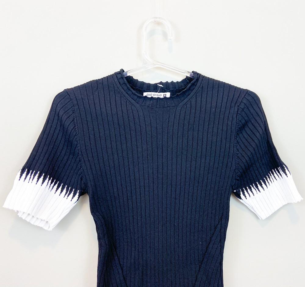 Conjunto cropped/saia tricot Oxo Paxo tam G
