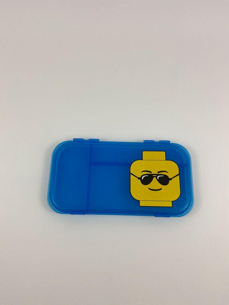 Estojo porta utensílios azul Lego