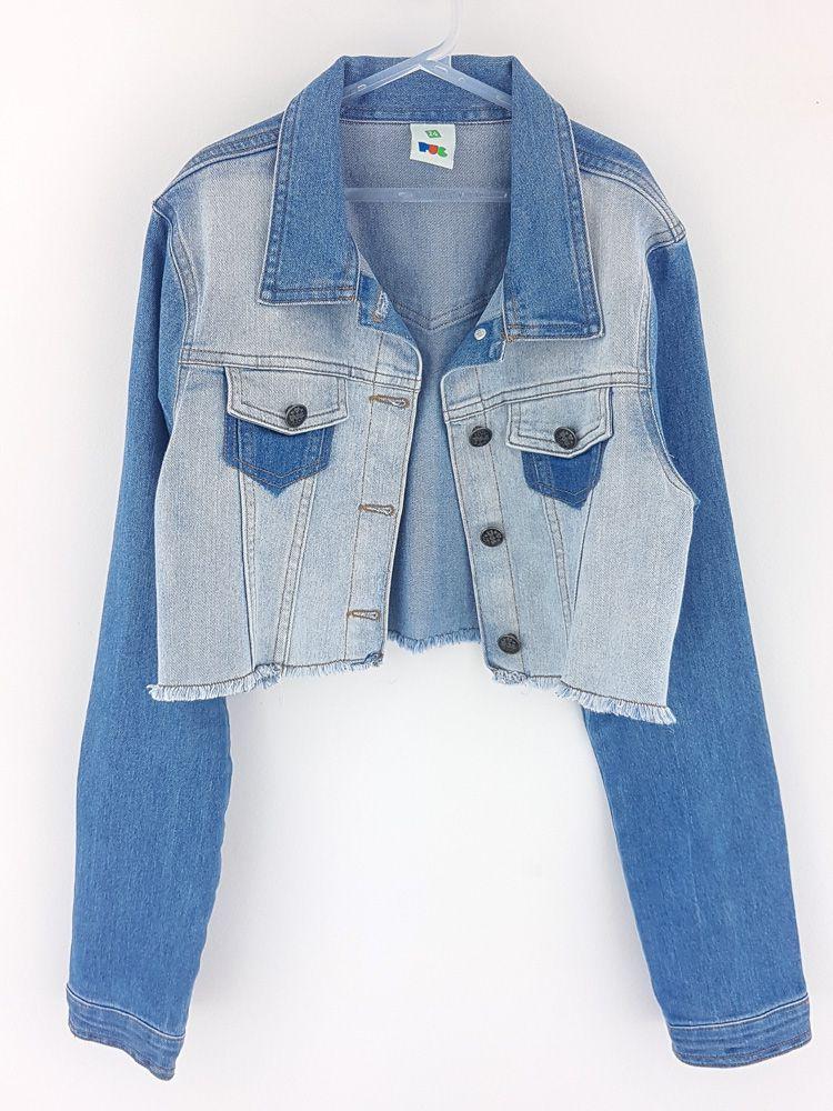 Jaqueta jeans rajada Puc tam 14