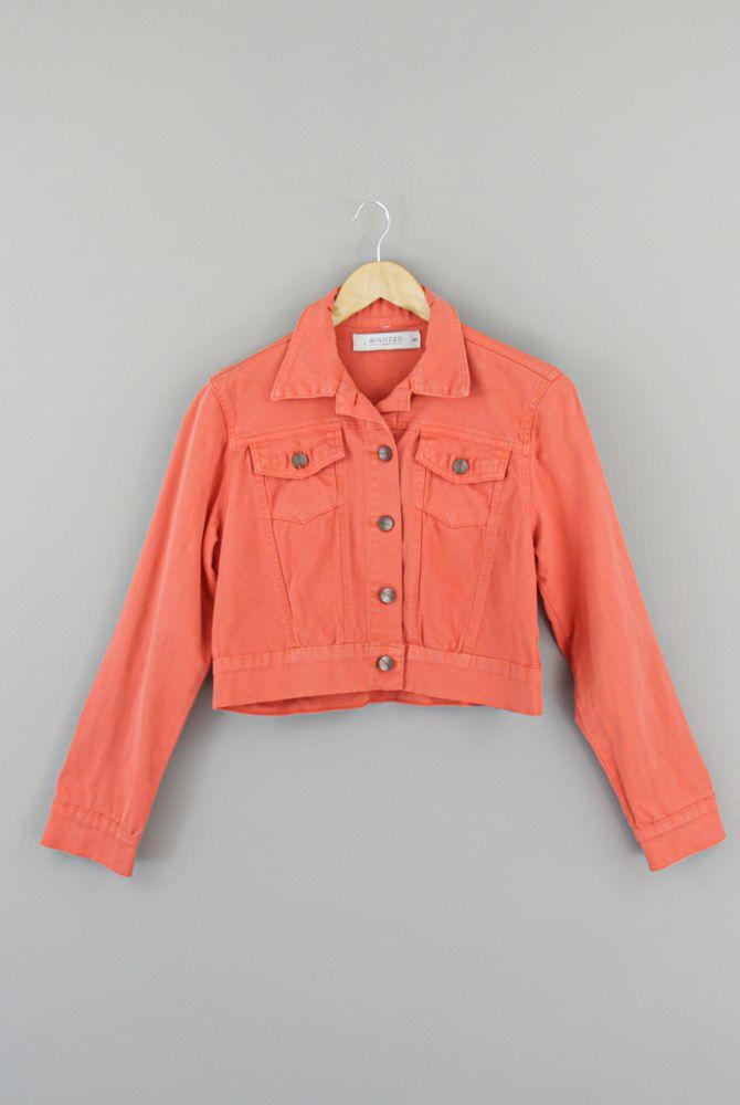 Jaqueta laranja botões cobre Avanzzo tam 40