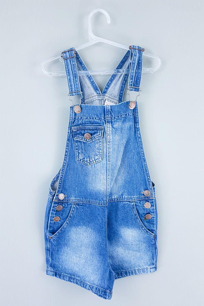 Jardineira jeans botões Palomino tam 2