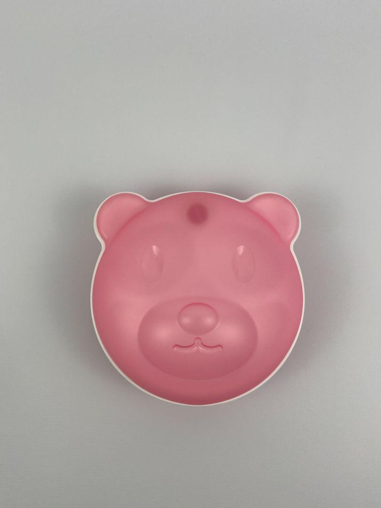 Pratinho de urso rosa/branco