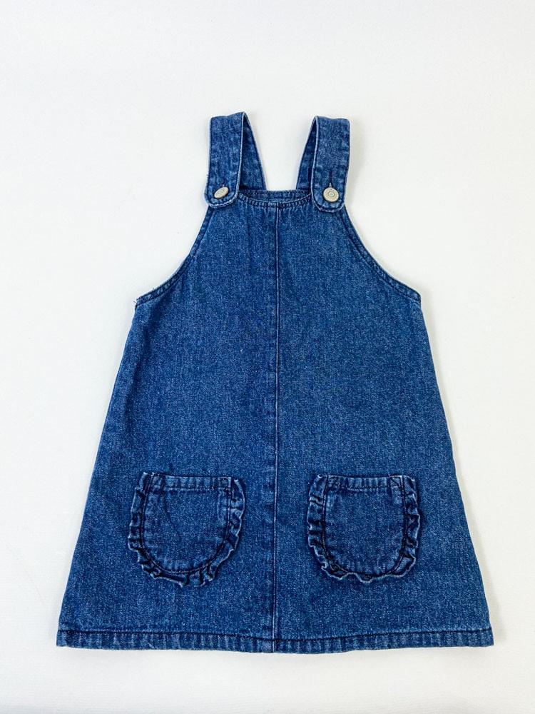 Salopete  jeans escura bolsos frente Pom tam 2