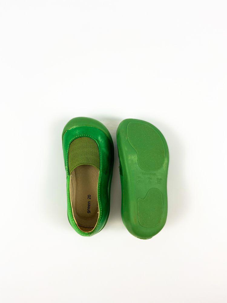 Sapatilha verde detalhe elástico Green tam 20