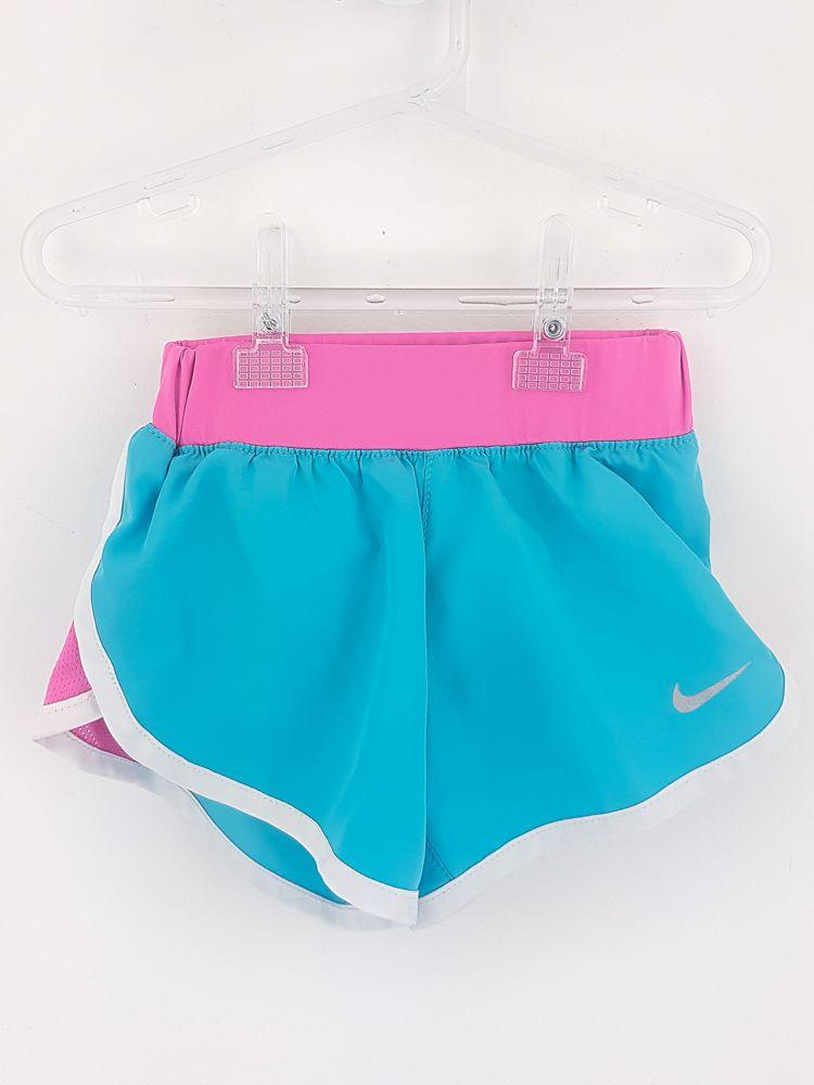 Short azul/rosa dry fit Nike tam 4