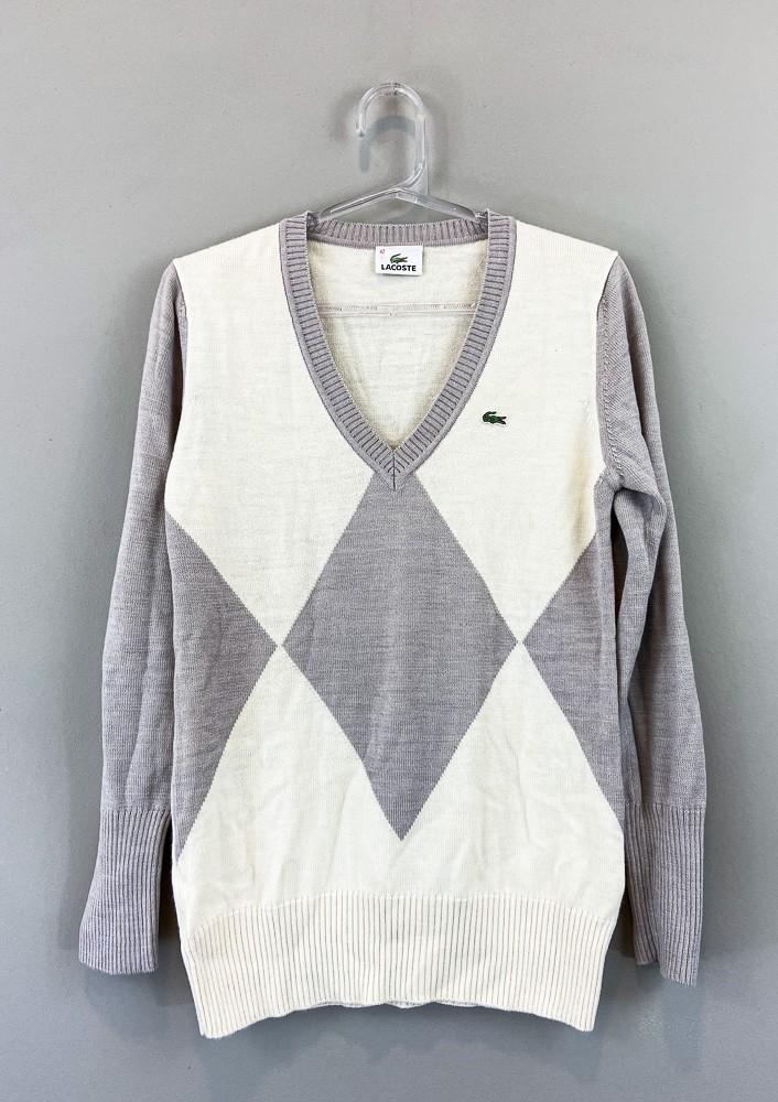 Suéter creme/lilás Lacoste tam 42