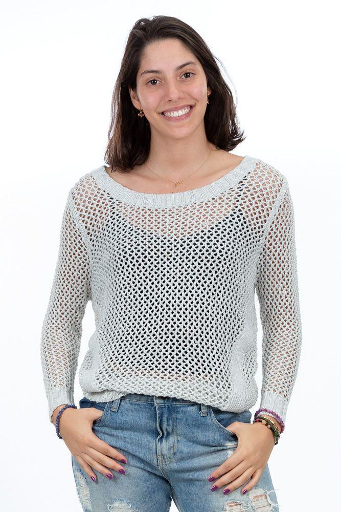 Suéter prateado linha Trettiore tam M