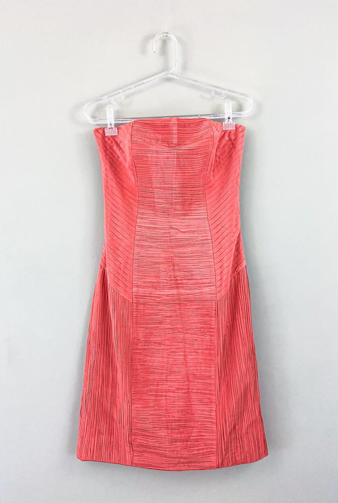 Vestido seda coral Carlos Miele tam 40