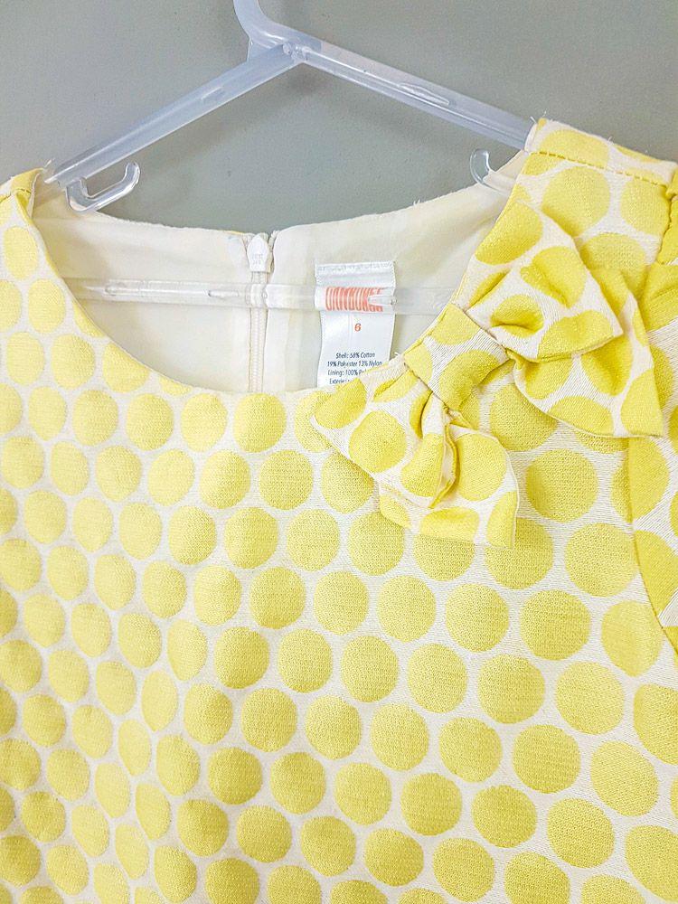 Vestido branco bolas amarelas Gymboree tam 6