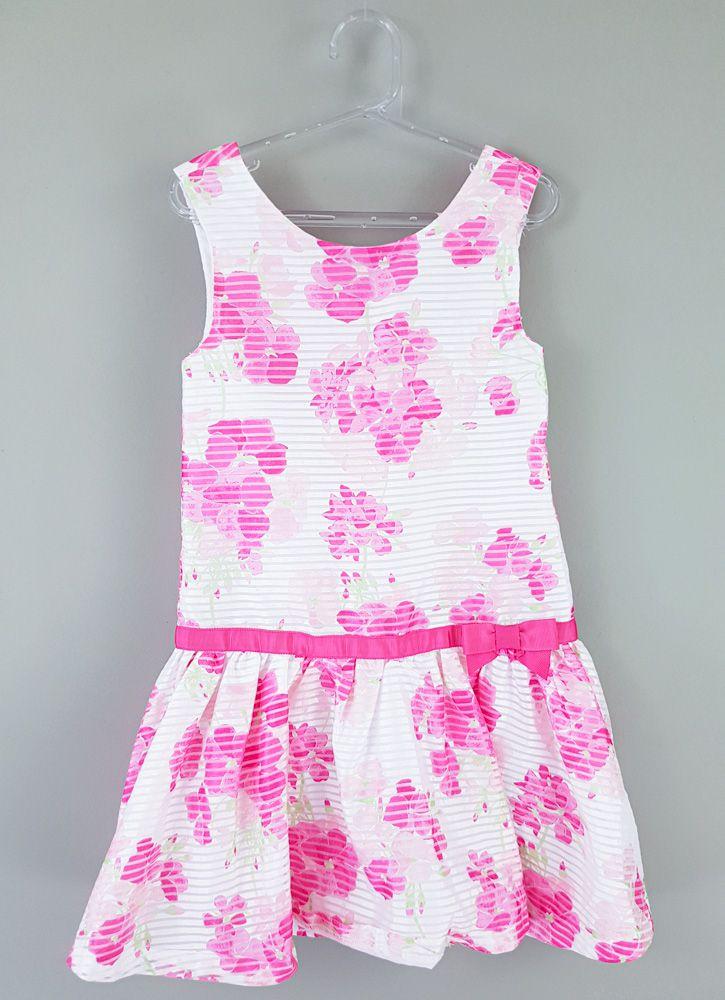 Vestido branco flores pink  Gymboree tam 7