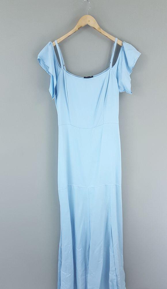 Vestido longo azul Avanzzo tam 42