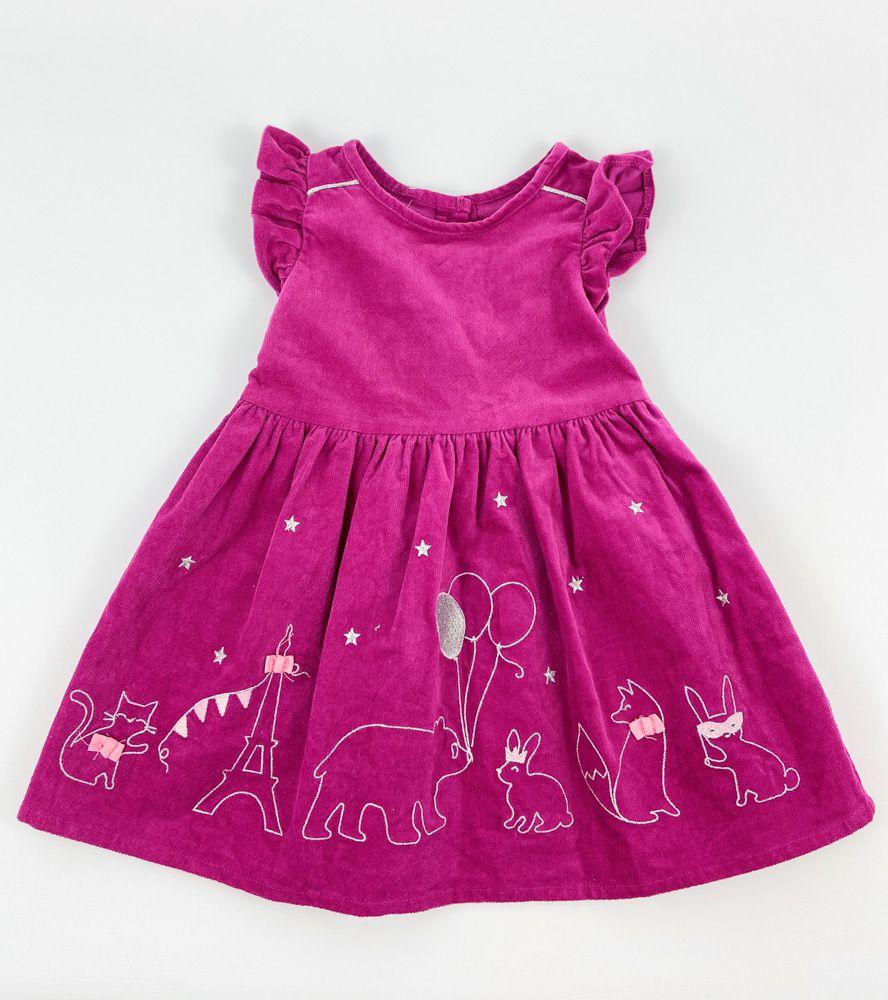 Vestido rosa cotelê balões e coelhos Gymboree 12/18m