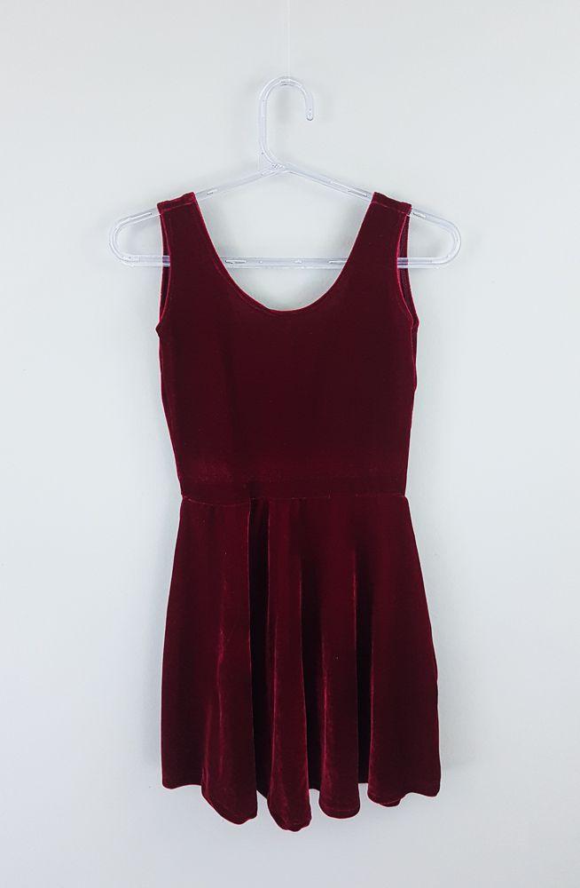 Vestido veludo vermelho tam 12