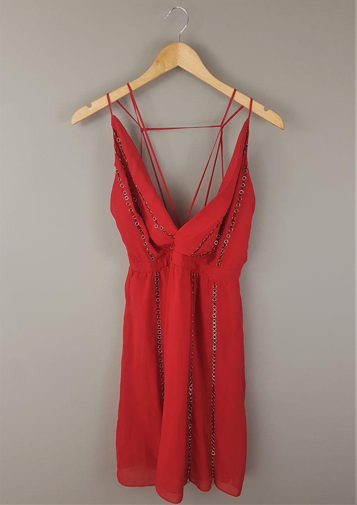 Vestido vermelho Animale tam 38