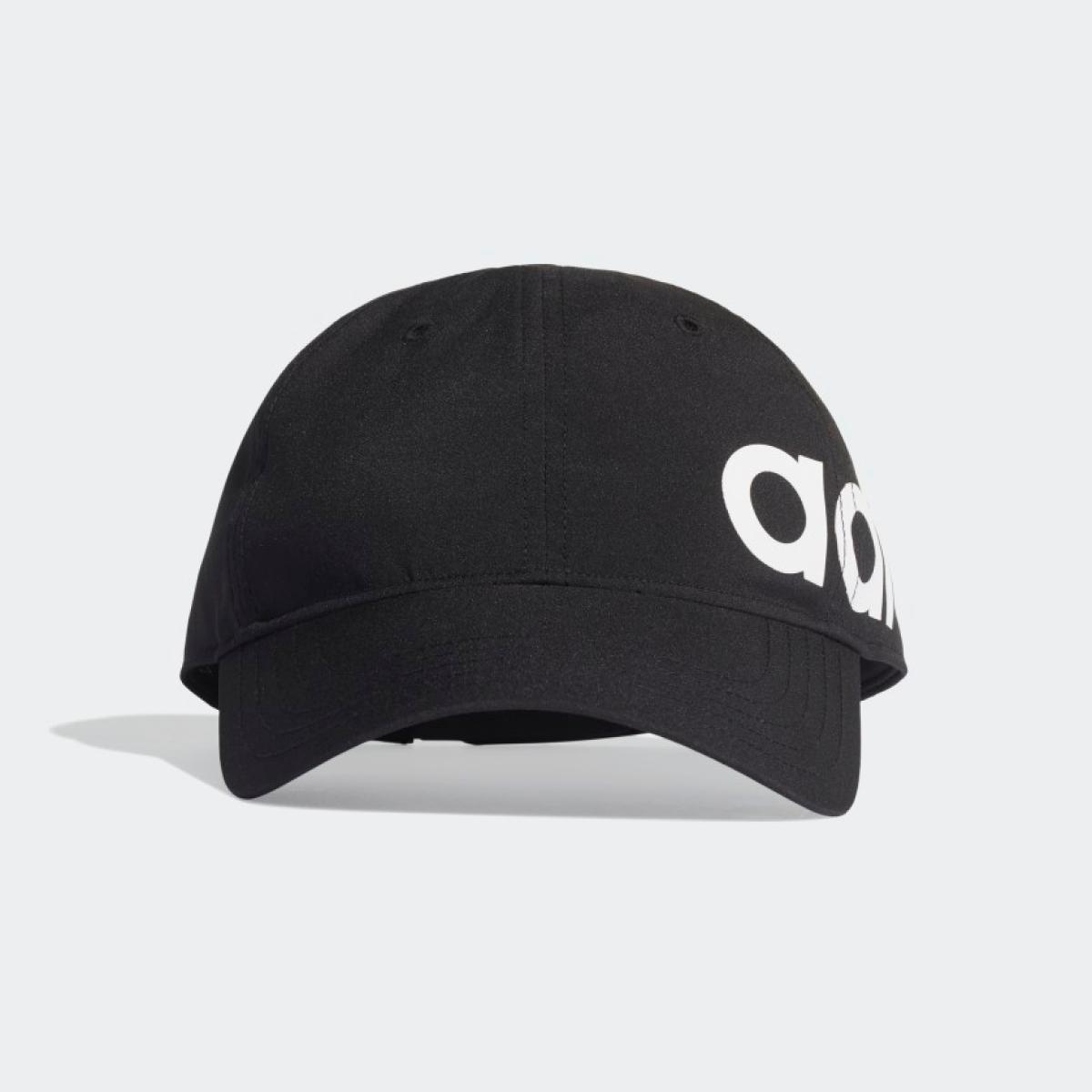Boné adidas logo linear dad hat preto