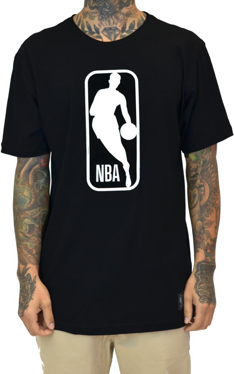 Camiseta big NBA logo preto