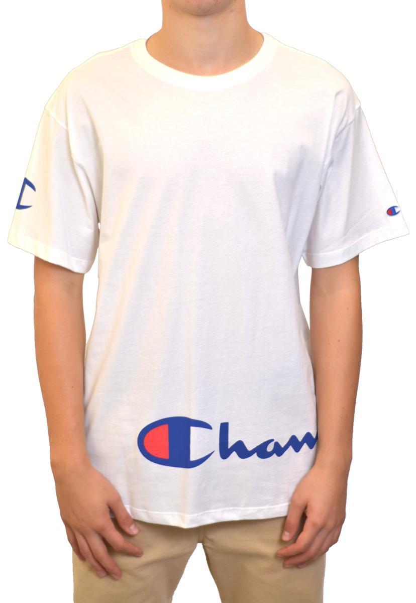 Camiseta champion around script ink - gt13b 550254b - branco