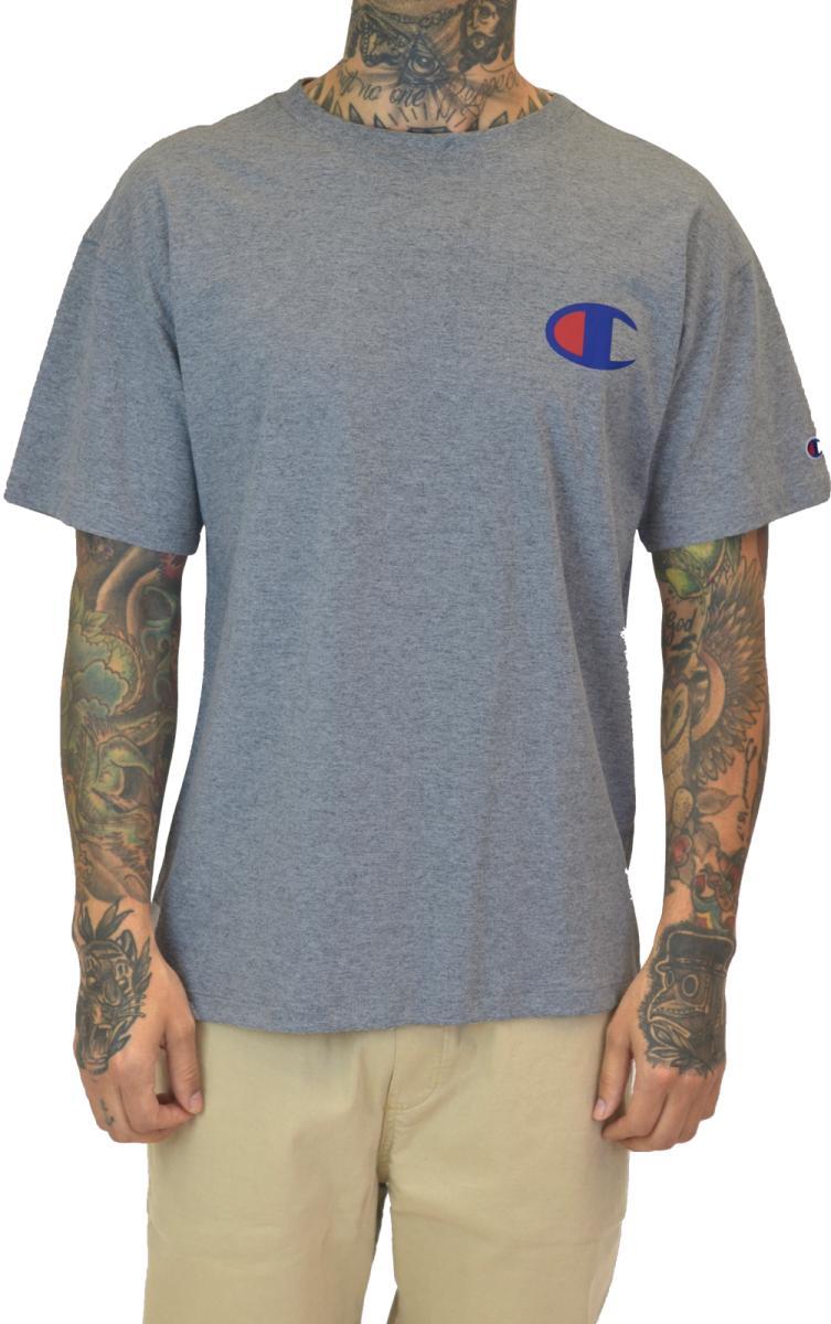 Camiseta champion logo - cinza