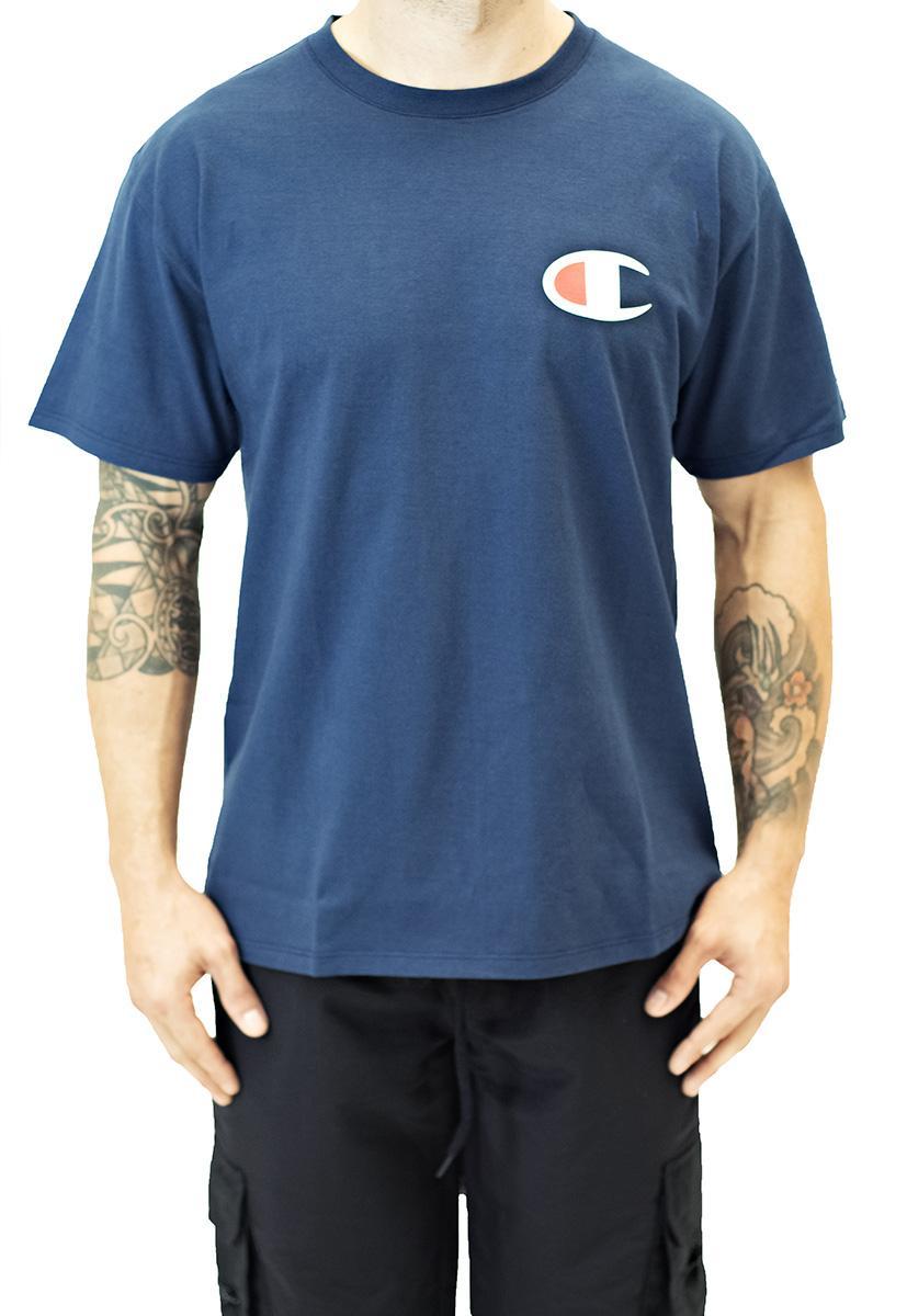 Camiseta champion manga curta 5 oz - c logo navy