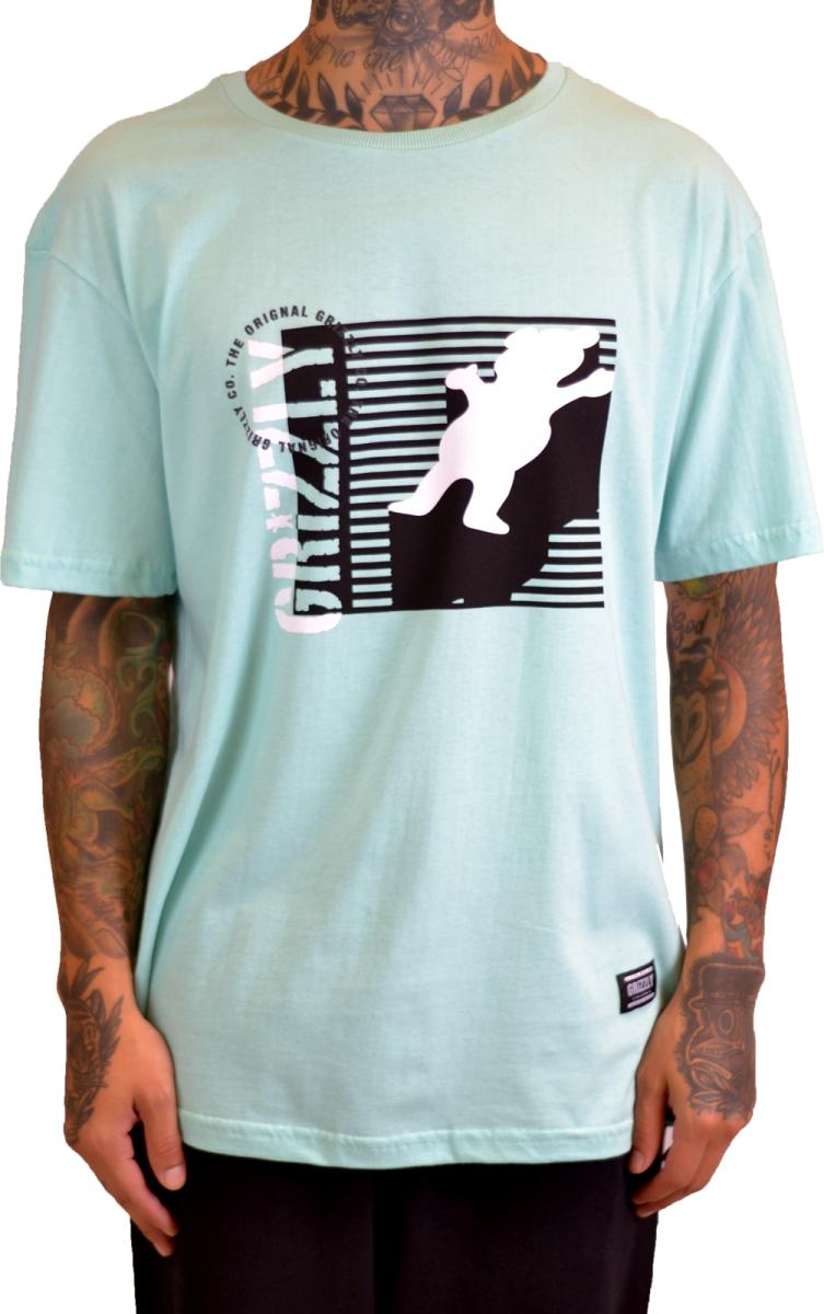 CAMISETA GRIZZLY LINED UP CELADON