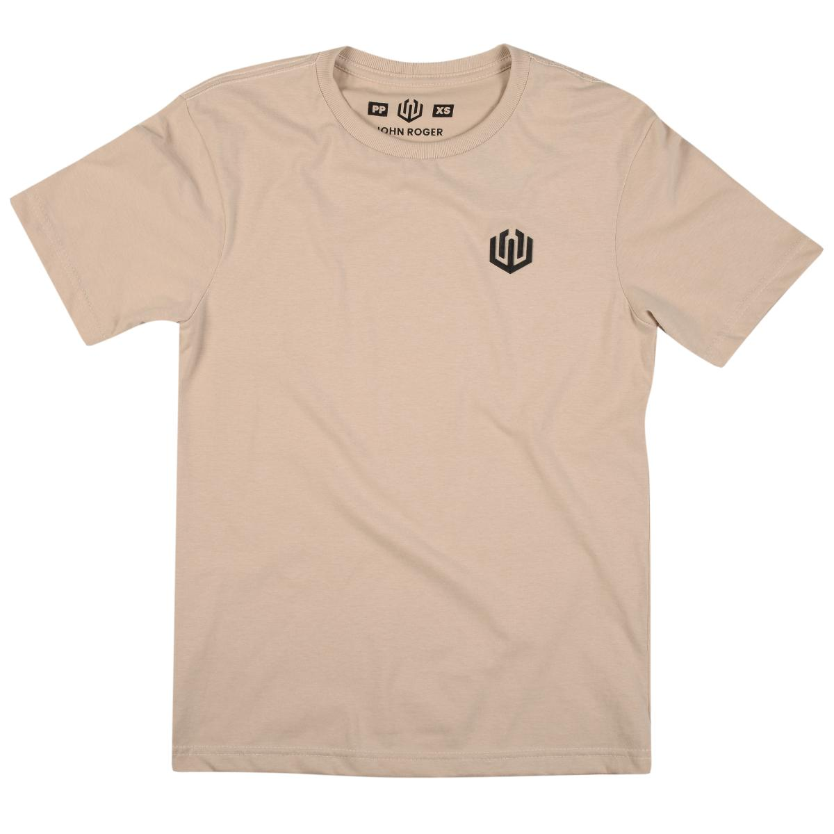 Camiseta John Roger Basic - bege