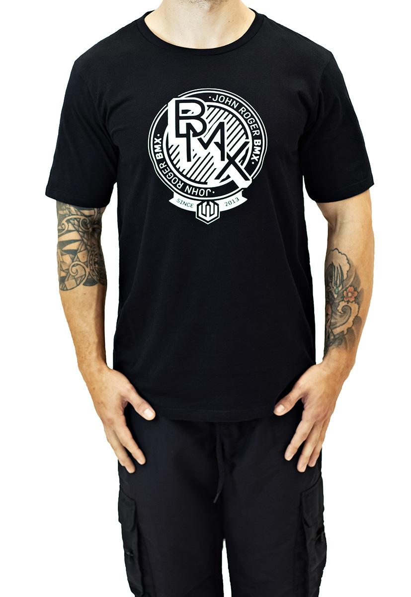 Camiseta john roger bmx colab paulo saçaki - preto