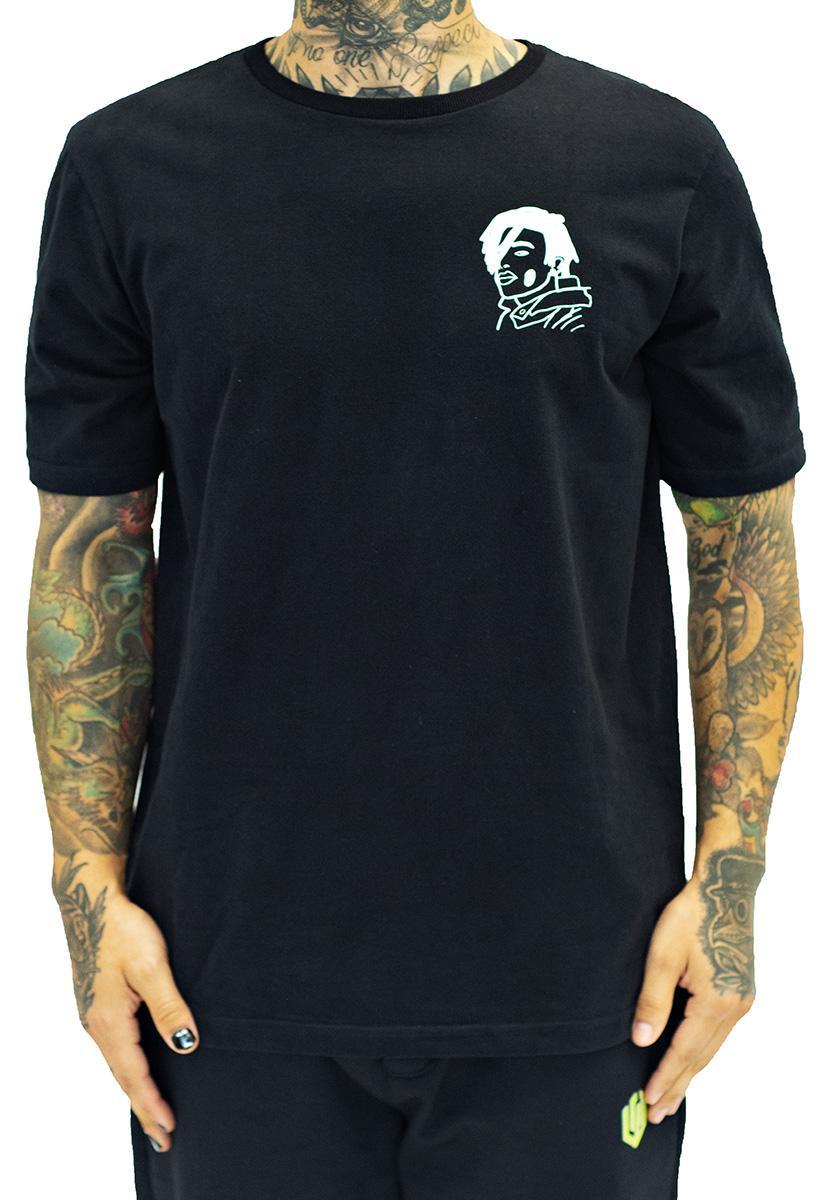 Camiseta john roger flash playboy carti - preto