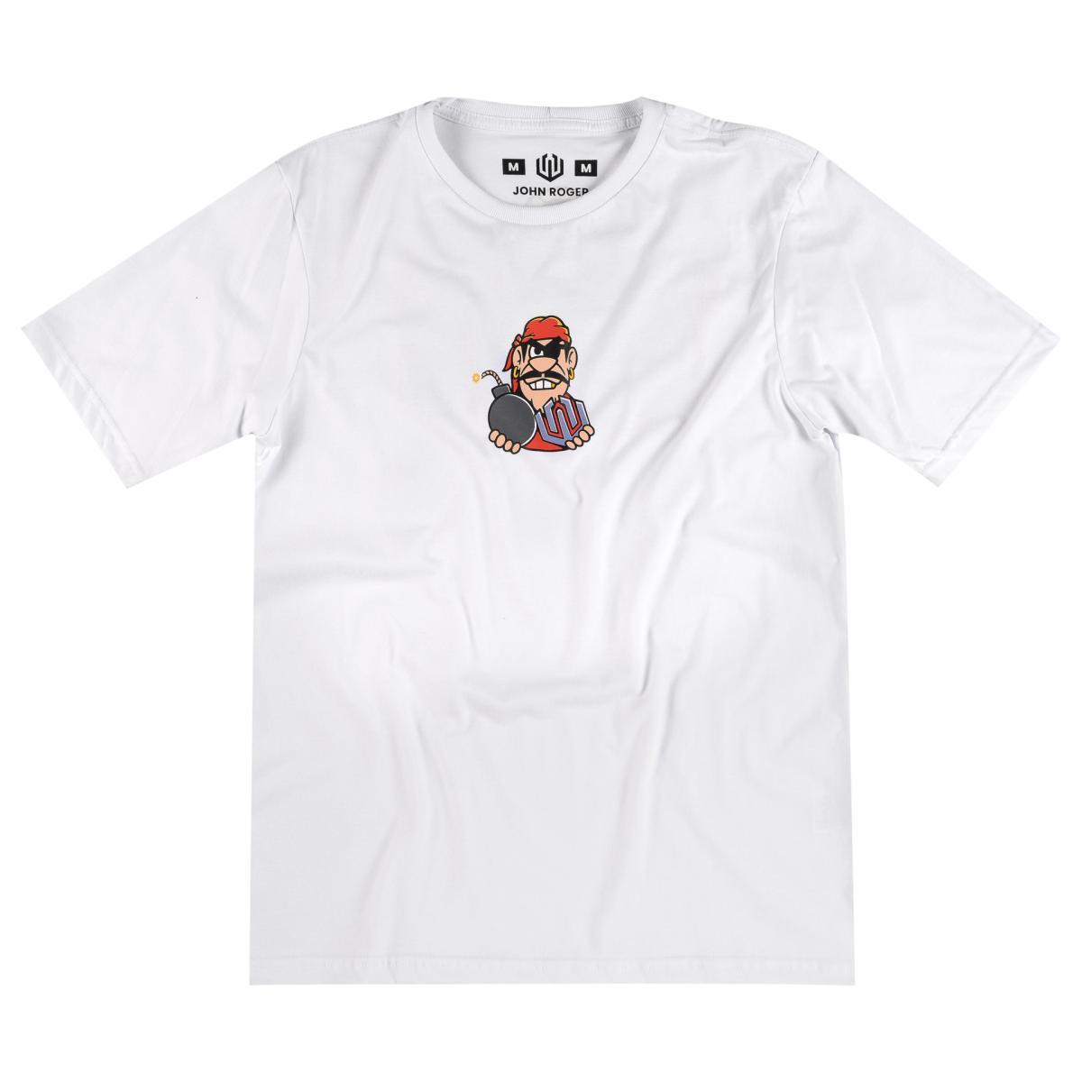 Camiseta John Roger Graffiti Bomb - branco