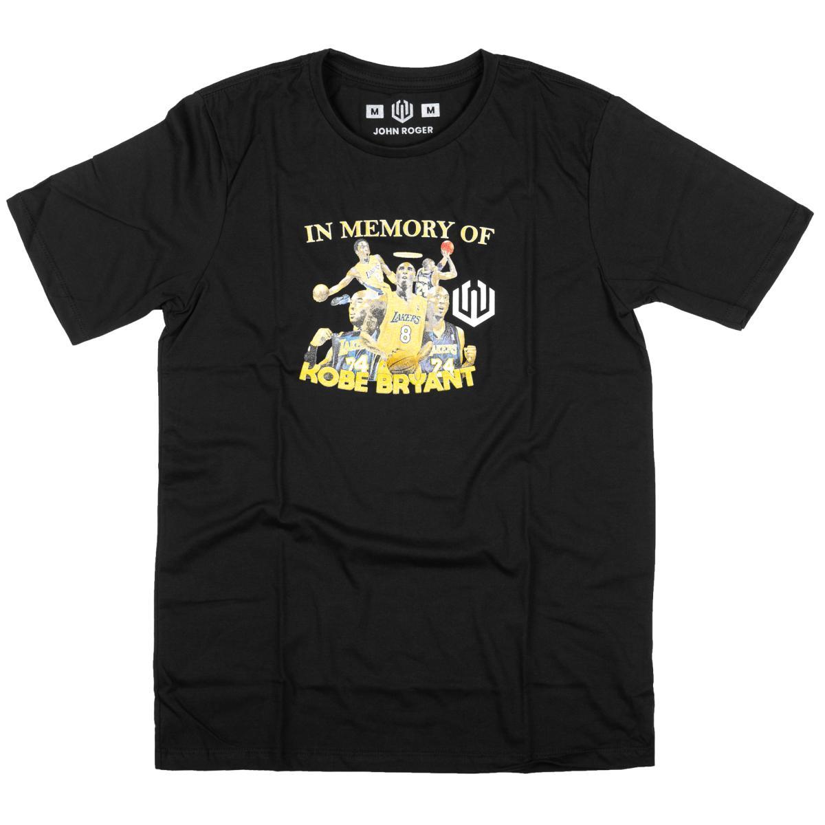 Camiseta john roger kobe bryant - preto
