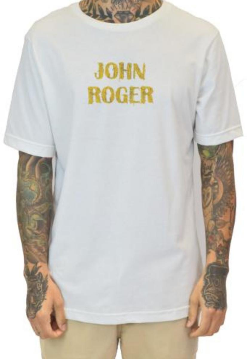 Camiseta john roger lamen - bege