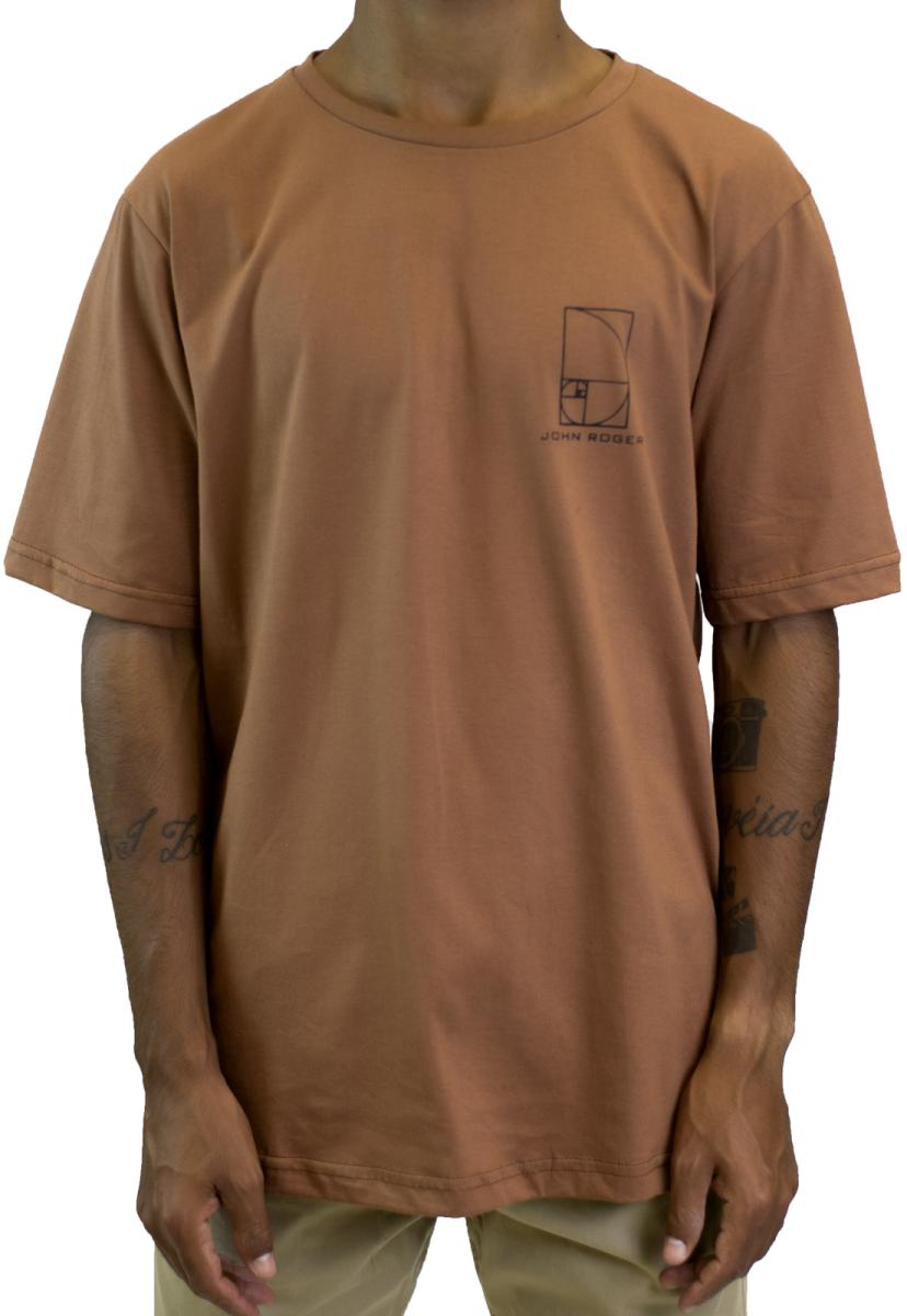 Camiseta John Roger Travis in Fibonacci - marrom