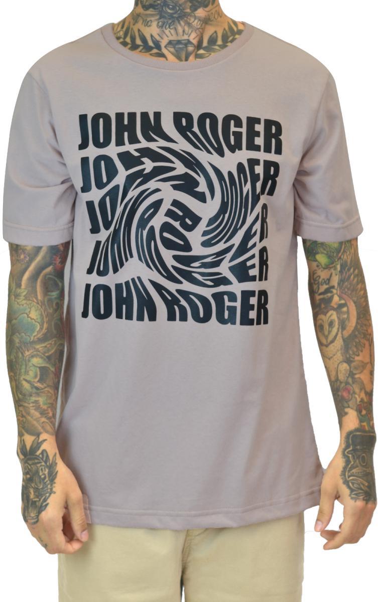 Camiseta john roger wave - rosa