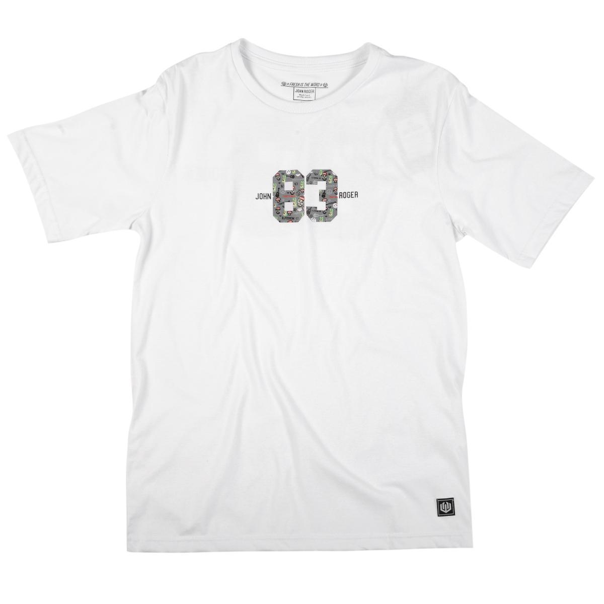 Camiseta John roger x Febem Pro Model - branco
