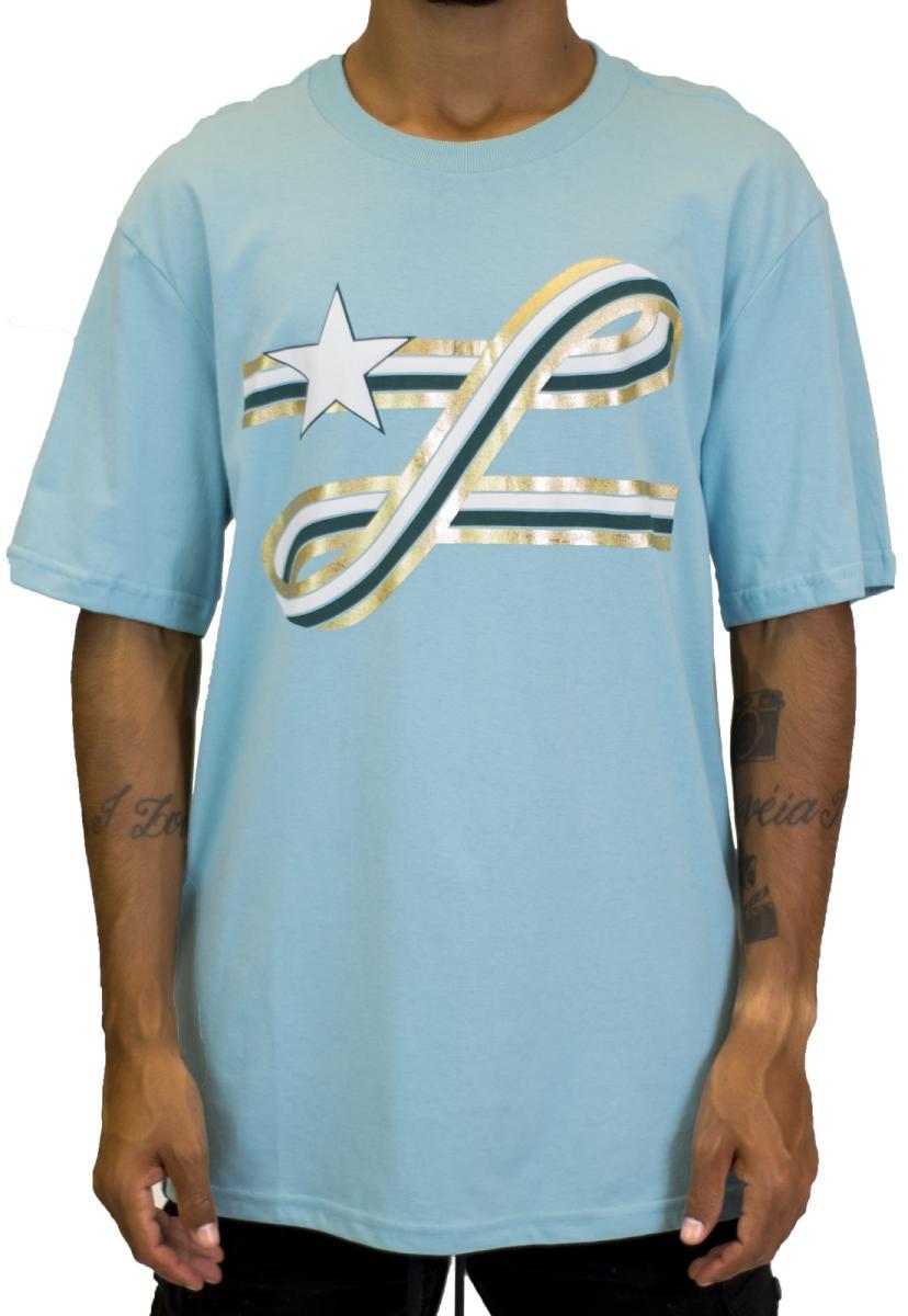 Camiseta lrg ribbon azul claro