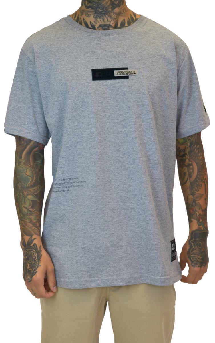 camiseta masculina especial Starter cinza