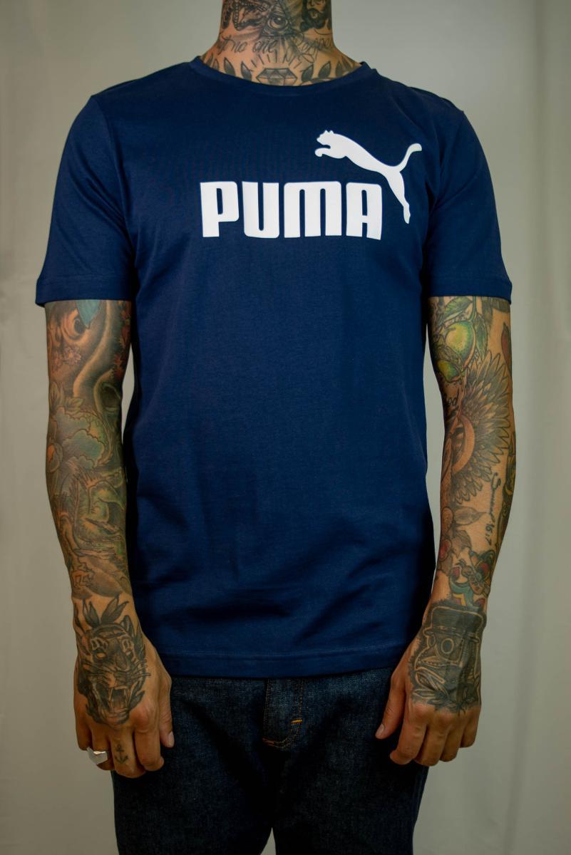 Camiseta Puma - Essentials Small Logo Azul