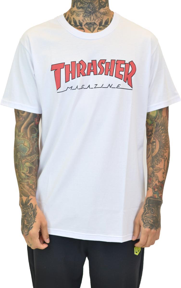 Camiseta thrasher outlined off white
