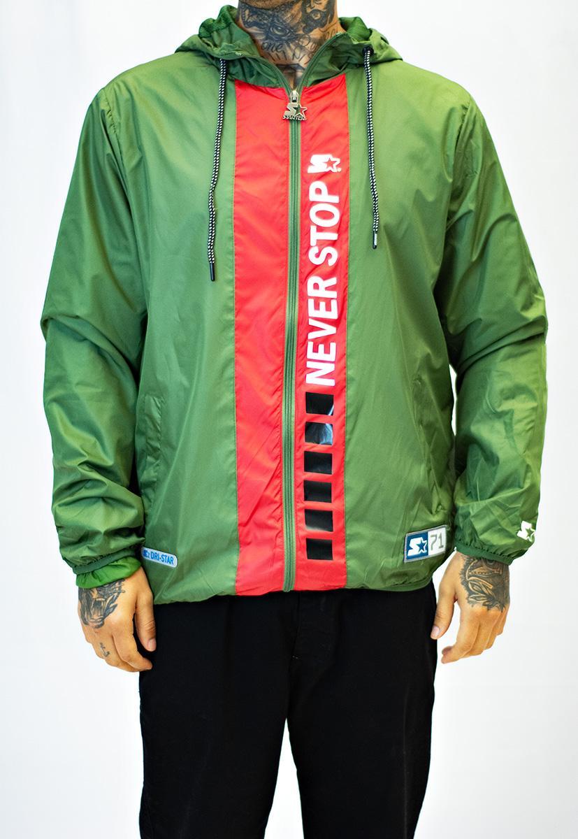 Jaqueta corta vento windbrker verde