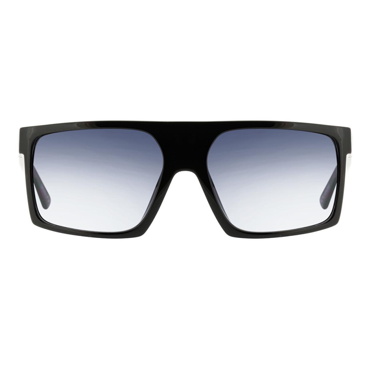 ÓCULOS DE SOL EVOKE SHIFT BIG A01 BLACK SHINE SILVER/ GRAY GRADIENT
