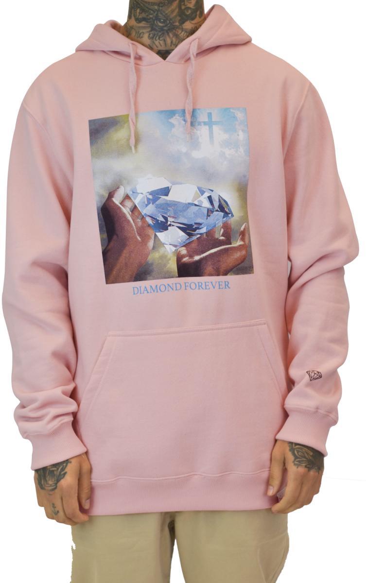 Sweatshirts diamond forever hoodie pink