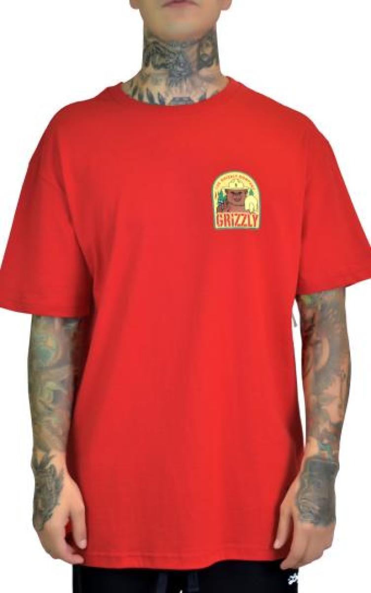 T-shirt grizzly prevention tee - vermelho