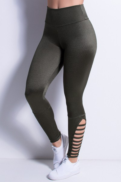 Calça Legging Fitness para Academia Tech com Tiras